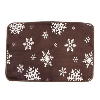 Shop Unique Bargains Snowflake Pattern Bathroom Doormat