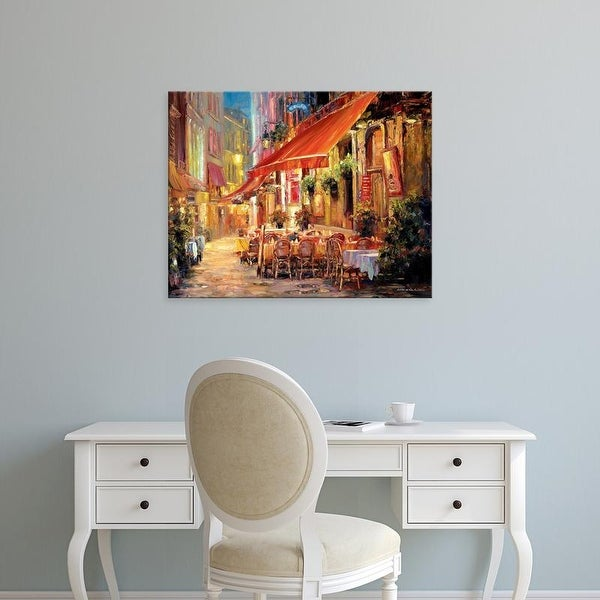 Easy Art Prints Haixia Liu's 'Café in Light' Premium Canvas Art