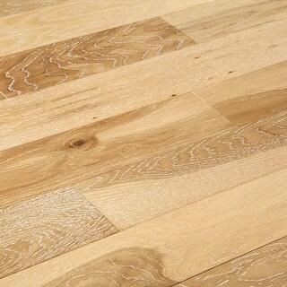 "SAMPLE Kanstar Engineered Hardwood - 17.5 sq. ft. Helios Collection Silk / Oak / 5"" / 0.45"" / 9"""