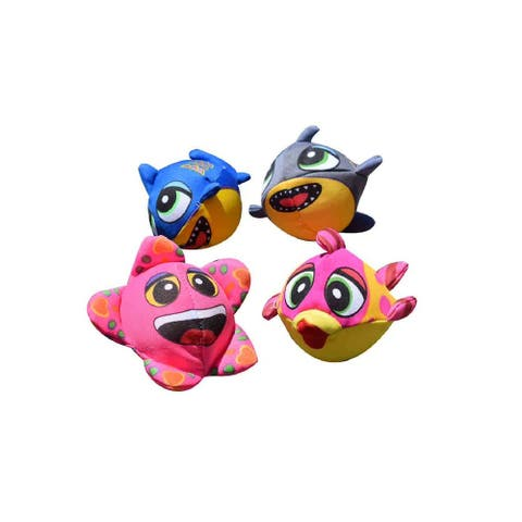 Set of 4 Pink and Blue Fish Splasher Bombs Outdoor Pool Game 5""