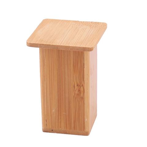 Household Rectangle Toothpick Holder Container Storage Box Case Wood Color