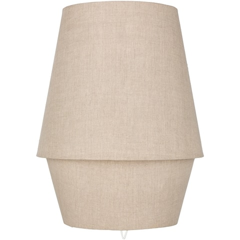 "Rawiya Taupe Fabric Covered Table Lamp - 20""H x 15""W x 15""D"