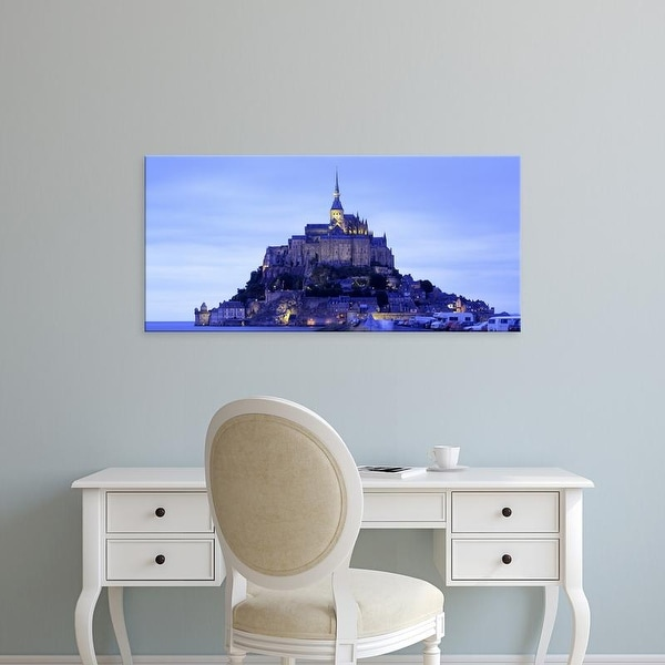 Easy Art Prints Panoramic Images's 'Mont St Michel Brittany France' Premium Canvas Art