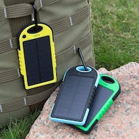 5000 mAh Dual USB Solar Charger Battery Universal Rain-resistant Power Bank