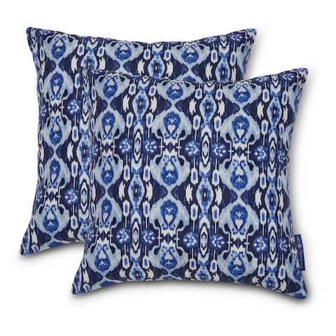 Vera Bradley by Classic Accessories Water-Resistant Accent Pillows, 18 x 18 x 8 Inch, 2 Pack