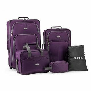 Whitfield 5pc Softside Lightweight Rolling Luggage Set