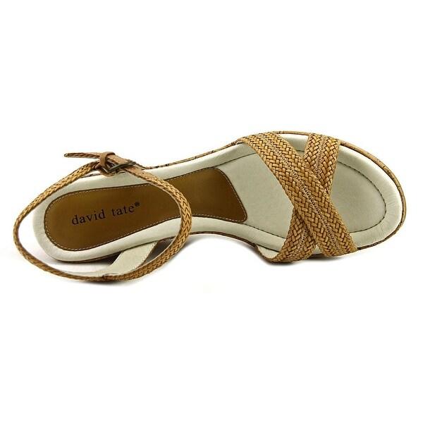 David Tate Baily Women Open Toe Synthetic Tan Sandals