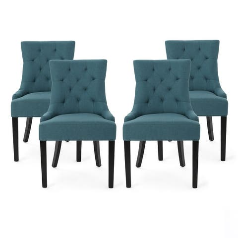 Hayden Tufted Fabric Dining Chairs (Set of 4) by Christopher Knight Home