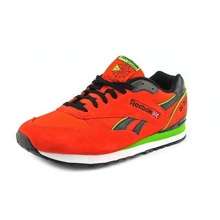 Reebok Classic Men Round Toe Suede Red Sneakers