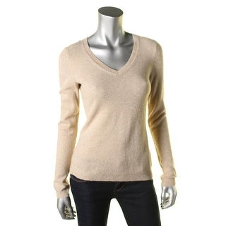 Private Label Womens Cashmere V-Neck Pullover Sweater - S