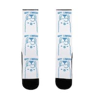 Happy Llamakkah US Size 7-13 Socks by LookHUMAN