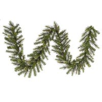 "9' x 16"" Pre-Lit Jack Pine Artificial Christmas Garland - Clear Lights"