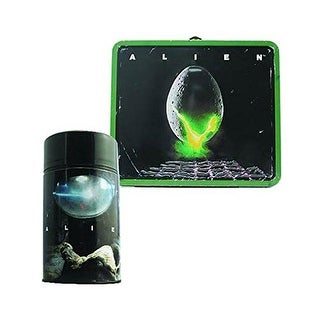 Alien Egg Distressed Tin Lunch Box with Thermos