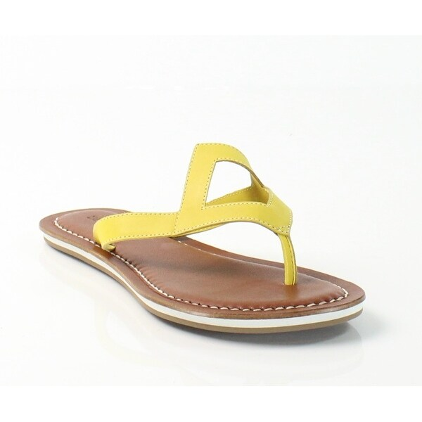 Bernardo NEW Yellow Geometric Eva Size 6M T-Strap Leather Sandals