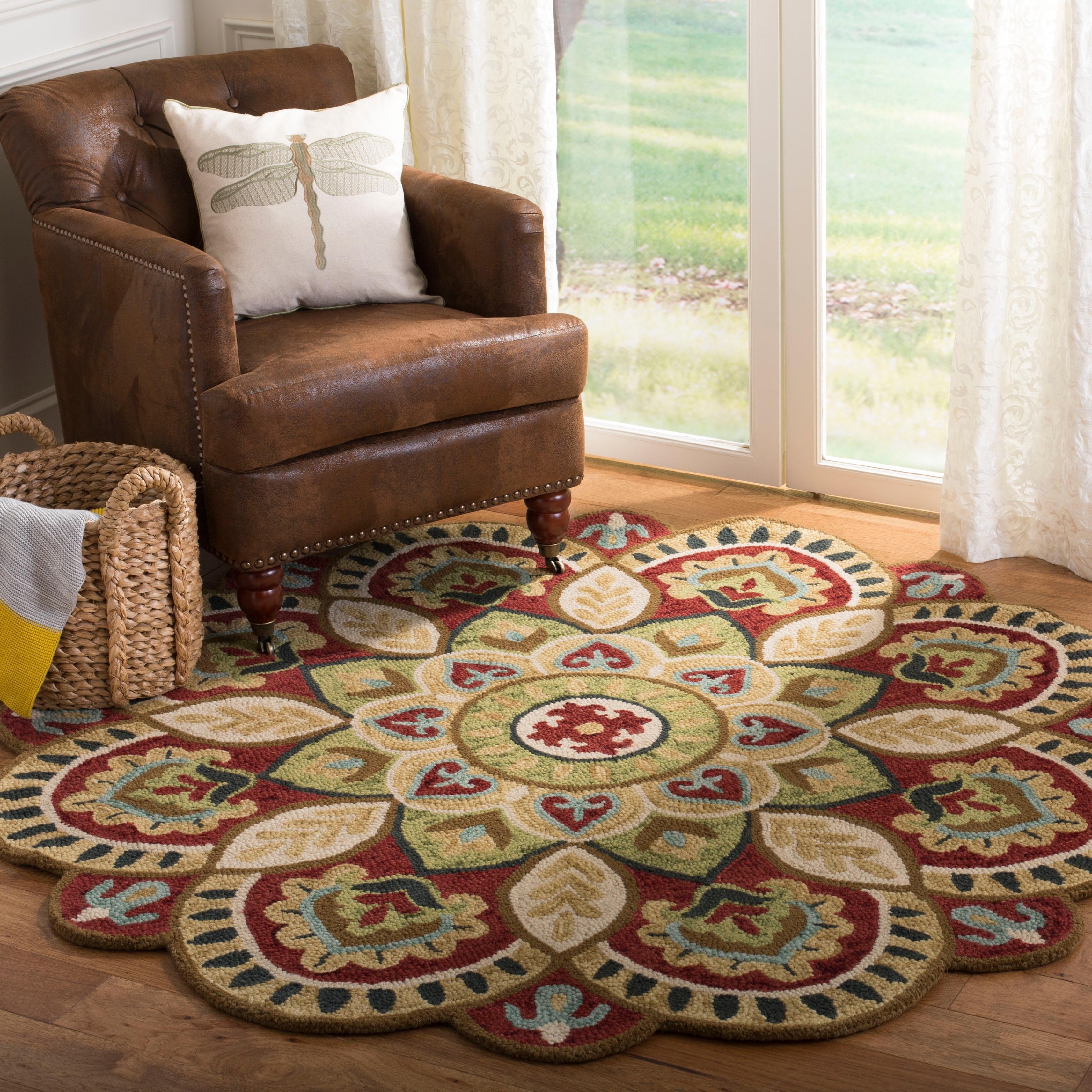 Safavieh Handmade Novelty Urtza Ornate Flower Wool Rug On Sale Overstock 22560020