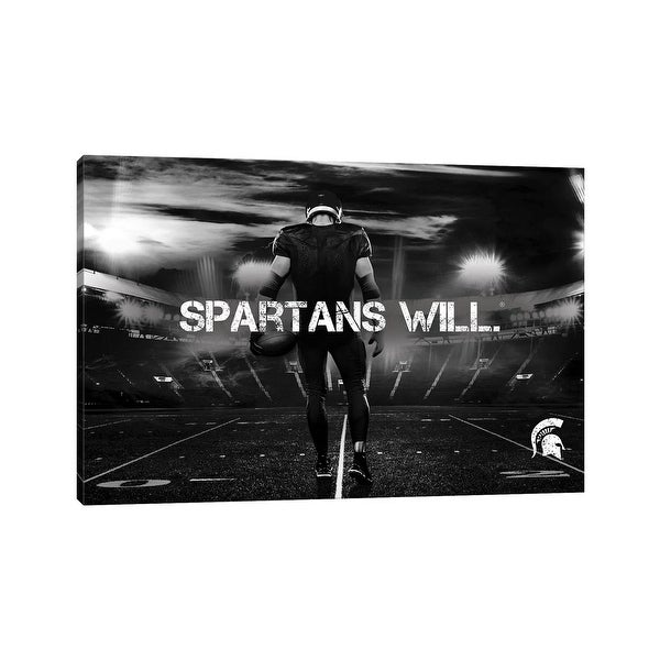 """iCanvas """"MSU Spartans Game Day Stadium Spartans Will"""" by Michigan State University Canvas Print. Opens flyout."""