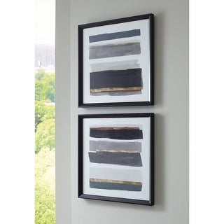 Link to Hallwood Black/White/Gray Wall Art - Set of 2 Similar Items in Matching Sets
