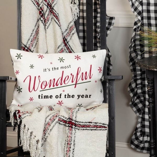Emmie Wonderful Time Pillow 14x22. Opens flyout.