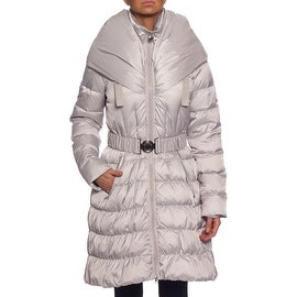 Laundry By Shelli Segal Skirted Down Coat with Hood