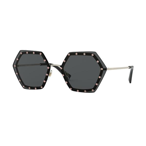 Valentino VA2035 300387 62 Light Gold Woman Irregular Sunglasses. Opens flyout.