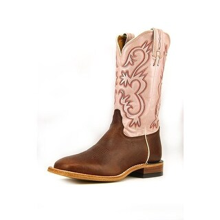 Tony Lama Bison Women Round Toe Leather Pink Western Boot