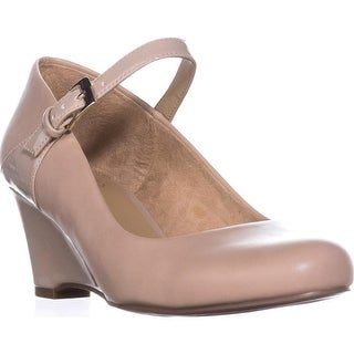 naturalizer Hester Mary Jane Pumps, Taupe Smooth/Shiny