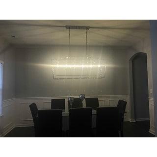 "Pagoda 49"" Linear 6-Bulb Lantern Metal LED Pendant, Chrome by JONATHAN Y"