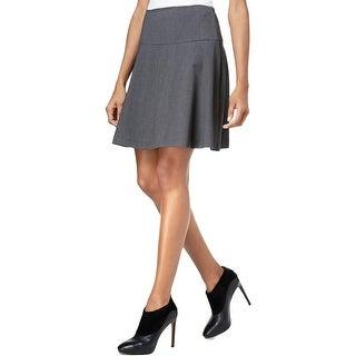 Kensie Womens A-Line Skirt Skater Solid