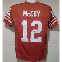 Colt McCoy Autographed Texas Longhorns Orange Size XL Jersey JSA