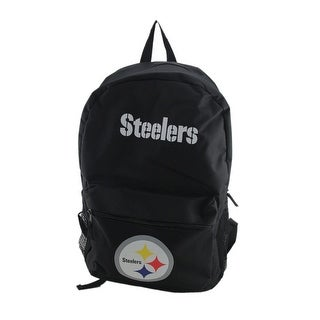 Officially Licensed NFL Pittsburgh Steelers Black Canvas Backpack