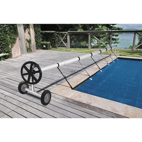 18 Ft Aluminum Inground Solar Cover Swimming Pool Cover Reel