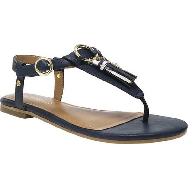 4483c3429 Shop Aerosoles Women s Short Circuit Flat Sandal Navy Faux Leather ...