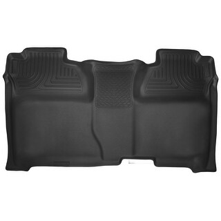 Husky X-act Contour 2014-2016 GMC Sierra 1500 CrewCab 2nd Row Black Rear Floor Mats/Liners