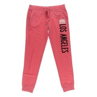 Juicy Couture Black Label Womens LA Graphic French Terry Track Pants