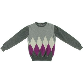 Ballantyne Girls Cashmere Argyle Pullover Sweater
