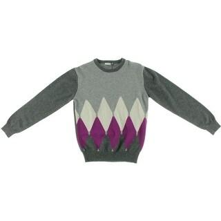 Ballantyne Girls Pullover Sweater Cashmere Argyle