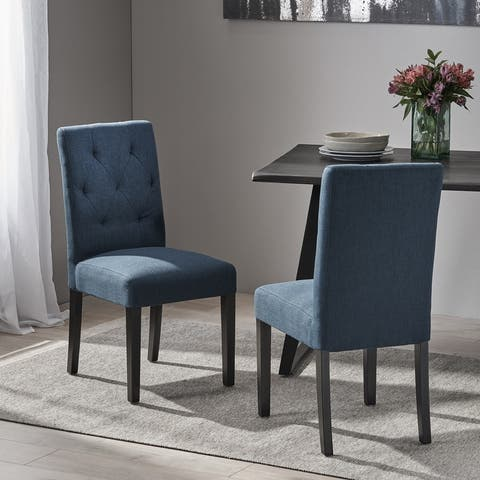 Gentry Tufted Fabric Dining Chair (Set of 2) by Christopher Knight Home
