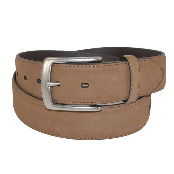 John Deere Men's Leather Removable Buckle Belt with Camo Inlay