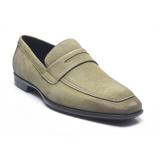 Bruno Magli Men's Leather Suede Millionia Penny Loafers Shoes Sage