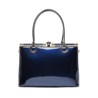 Style Strategy Beryl Patent Leather Bag Blue