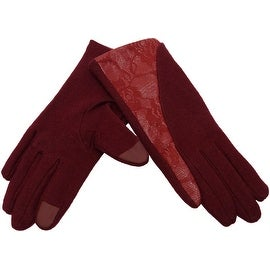 Women's Wool Gloves Fingertips for Touchscreen Texting, Fall Winter, Cell Phone Text