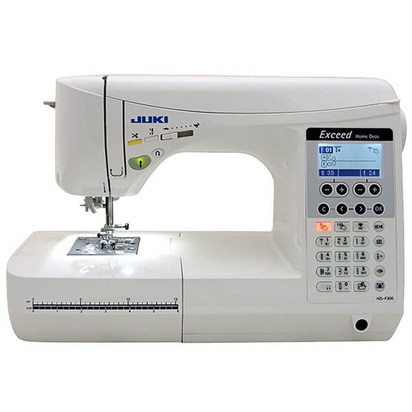 Shop Black Friday Deals On Juki Exceed Hzl F300 Home Deco Computerized Sewing Machine 1 X 1 X 1 Overstock 16797098