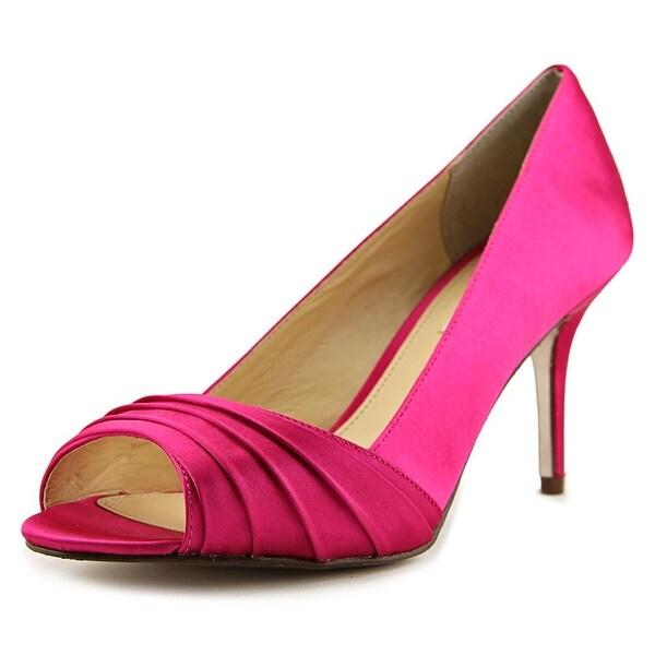 Nina Vesta Women Open Toe Canvas Pink Platform Heel