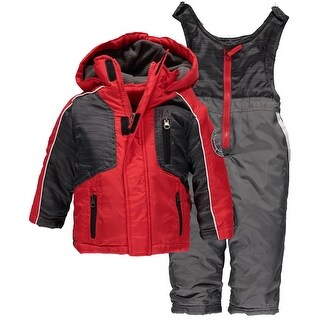 Weather Proof Baby Boys 12-24 Months Panel Snowsuit - Grey - 12 Months