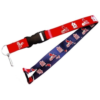 St Louis Cardinals Reversible Clip Lanyard Keychain Id Ticket Holder