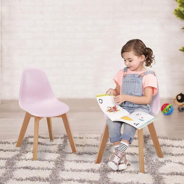 Shop Vecelo Kids Chairs Modern Style Wood Leg Polyurethane