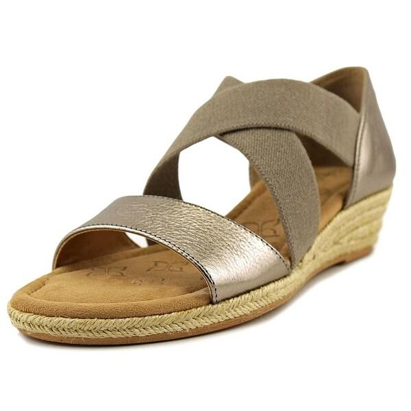 Comfortiva Brye Women N/S Open Toe Leather Wedge Sandal