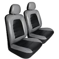 Pilot Automotive SC-436G Grey Super Sport Synthetic Leather Seat Cover (Pack of 6)