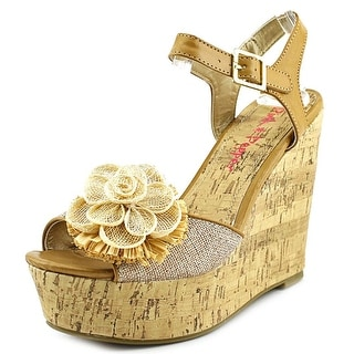Pink & Pepper Tialla Open Toe Canvas Wedge Sandal