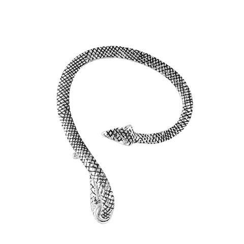 Ear Cuff Climber Crawler Wrap Earrings Silvertone Oxidized